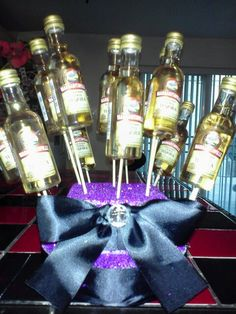 Liquor bouquet bachelorette Liquor Bouquet, Wine, Party, Holiday, Gifts, Vacations, Presents, Parties, Holidays