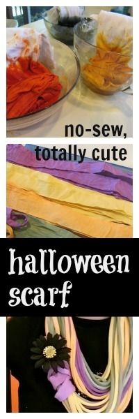 no-sew, not-so-spooky, totally cute #halloween scarf #weteach #familyfun