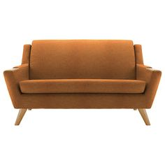 BuyG Plan Vintage The Fifty Five Small 2 Seater Sofa, Flurry Tangerine Online at johnlewis.com