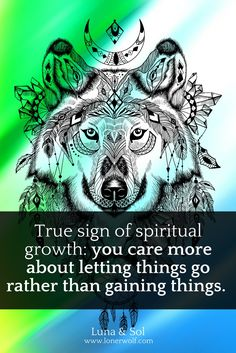 Spiritual growth is about letting go and surrendering everything you're not.