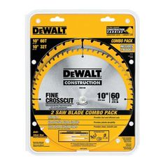 "#Lowes_Canada: $44.99 or 51% Off: [LOWES] DEWALT DW3106P5 Construction 2-Pc 10"" Circular Saw Blade Set $22.50 http://www.lavahotdeals.com/ca/cheap/lowes-dewalt-dw3106p5-construction-2-pc-10-circular/63715"