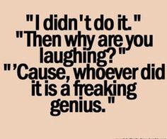 I always get blamed.