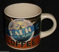 Radio Brand Coffee Mug Cup By Westwood Vtg 1999 FREE US Ship #Westwood