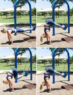 Ditch the Gym With These 5 Outdoor Exercises - Ditch the Gym With These 5 Outdoor Exercises awesome workout moves you can do at a park or playground! this looks way better than going to the gym Outdoor Gym, Outdoor Playground, Outdoor Workouts, Gym Workouts, Outdoor Fitness, Playground Ideas, Workout Exercises, Workout Ideas, Trx