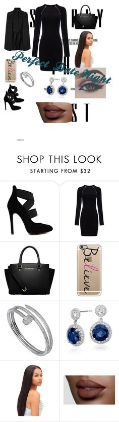 """Your perfect date outfit with bae"" by toluthomas ❤ liked on Polyvore featuring T By Alexander Wang, MICHAEL Michael Kors, Casetify, Cartier, Blue Nile and Maje"