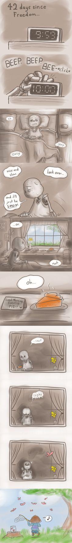 Reset - Sans and Frisk - comic (1/3) - http://nintendonut1.tumblr.com/post/132587878628/reset
