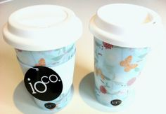 Coffee & Tea Travel Mug - Penelope Blue Travel Mugs, Coffee Travel, Caffeine, Designer Handbags, Coffee Shop, Wallets, Perfume, Jewellery, Tea