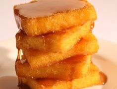 Fried Cornmeal Mush- OMG My Mom use to make this for us, fried, topped with maple syrup!! Memories!!!!!
