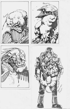 Bounty Hunters sketches.