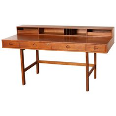 Teak Partners Desk by Jens Quistgaard for Peter Løvig Nielsen, 1967, Denmark | From a unique collection of antique and modern desks and writing tables at https://www.1stdibs.com/furniture/tables/desks-writing-tables/
