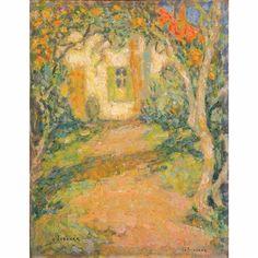Henri Eugène Augustin le Sidaner, Allee des Mimosas, 1928