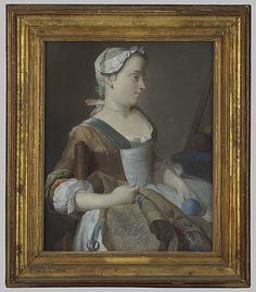 Jeune fille brodant (Young Girl Embroidering) by Jean-Etienne Liotard, 18th century