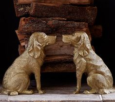 Ken Fulk Retriever Andirons | Pottery Barn