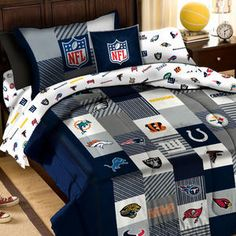 NFL Comforter Set Football League Teams 3pc Full-Queen Bed - Sears
