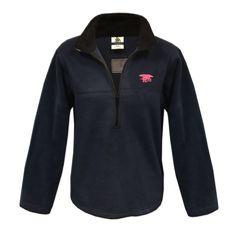 Women's Trident Navy Half-Zip Pullover Fleece - UDT-SEAL Store  - 1