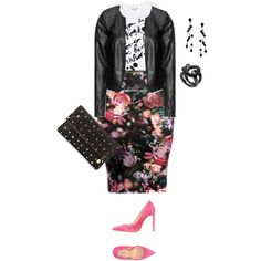"""""""plus size sexy and chic night out/skirt style"""" by kristie-payne on Polyvore"""