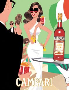 #campari illustration