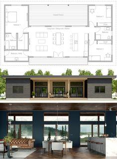 House Design, Home Plans, House Plans, Floor Plans Building A Container Home, Container House Design, Small House Design, Modern House Design, Container Homes, Modern House Plans, Small House Plans, House Floor Plans, Modern Floor Plans