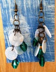 Up-Cycled Milk Jug Earrings by NCSustainableStyle on Etsy