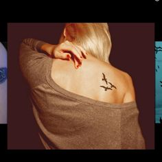 Bird tattoo. 4 birds, one for each of us. Or 2 birds for the kids pulling a ribbon with their names.