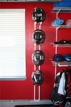 Pipe helmet hanger
