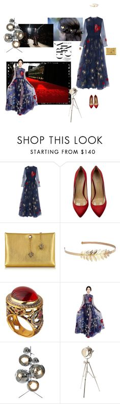 """""""From Runway To Red Carpet: Valentino"""" by belldraw ❤ liked on Polyvore featuring Valentino, Charlotte Olympia, Roberto Cavalli, Emily Elizabeth Jewelry, Queensbee, WALL, Tom Dixon and Ethan Allen"""