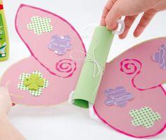 Schmetterlingseinladung zum Kindergeburtstag basteln