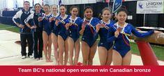 Congrats to Team BC's national open women who won 2015 #ArtisticCDNChamps bronze!  #TeamBC