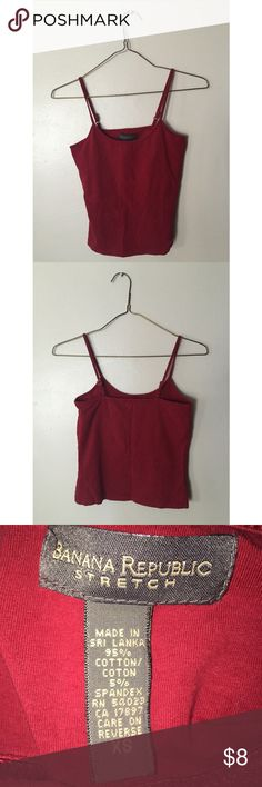 Banana Republic Red Camisole Banana Republic red camisole. Fits an extra small. Let Mel now if you have any questions! 😊 Banana Republic Tops Camisoles