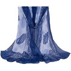 6.20$  Buy here - http://vihof.justgood.pw/vig/item.php?t=ioexx2687 - Blue and White Porcelain Style Print Cashew Flower Floss Women Scarf Shawl 6.20$