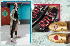Le scarpe con pelliccia di Gucci