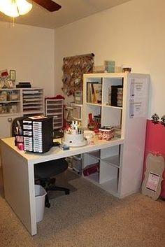 IKEA Craft Room   ikea desk in craft room!   NO KIDS ALLOWED