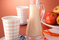 A vitamina de mamão, laranja e maçã é perfeita para um pré-treino. Venham aprender! Milk Shakes, Healthy Smoothies, Healthy Life, Food And Drink, Low Carb, Cooking, Tableware, Desserts, Recipes