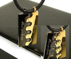 Brick jigsaw couples necklace. I think this would be a cool idea with some minor tweaking.
