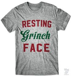 Christmas gift t shirt grinch face All Things Christmas, Holiday Fun, Christmas Holidays, Christmas Crafts, Christmas Ideas, Christmas Quotes, Christmas Carol, Holiday Ideas, Cheap Christmas