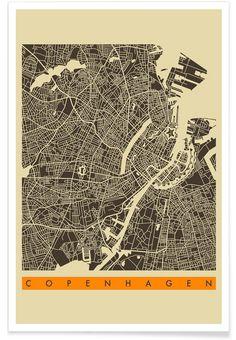Copenhagen II als Premium Poster von Jazzberry Blue | JUNIQE