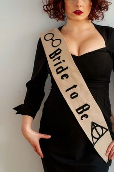 Alternative hen party accessories. Harry Potter wedding. Hen party sash alternative hen party ideas