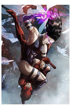 Psylocke VS Daredevil - Marc Rene