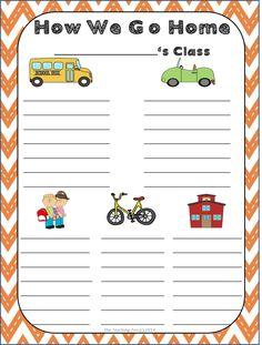 Dismissal Chart {FREEBIE} from The Teaching Zoo!