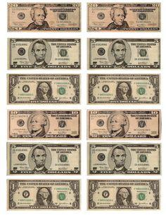 Free Printable Fun for Everyone: Free Printable Play Money