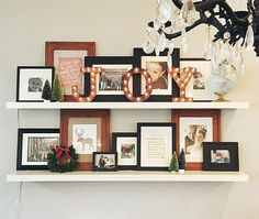 Stunning Christmas Decor Ideas Using What You Already Own: Say goodbye to selfies and hello to the #shelfie!