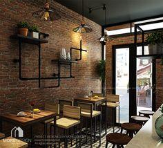 Thiết kế quán cafe hiện đại cá tính