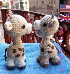 Bébé girafe-Instant Download Crochet motif-jouet par ElenasTimes …