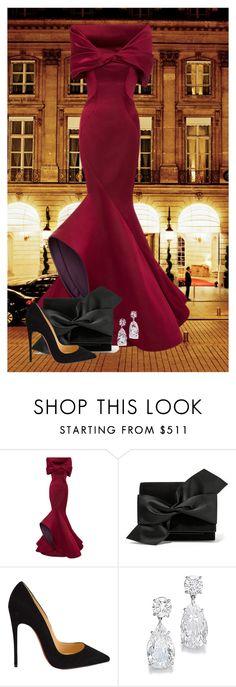 """Old Glamour"" by ggmusicista on Polyvore featuring moda, Zac Posen, Victoria Beckham, Christian Louboutin, women's clothing, women's fashion, women, female, woman e misses"