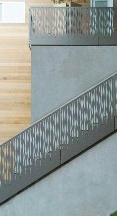 Bok Modern laser cut metal railings balcony balconies www.bokmodern.com