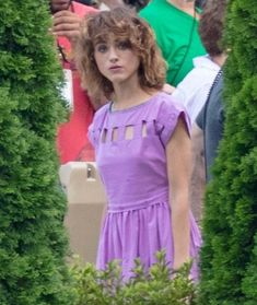 Natalia Dyer behind the scenes of Stranger Things 3 in Atlanta on August Nancy Stranger Things, Stranger Things Monster, Stranger Things Quote, Stranger Things Aesthetic, Stranger Things Season 3, Jonathan And Nancy, Natalie Dyer, Miss Peregrine's Peculiar Children, Millie Bobby Brown