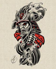 Japanese Dragon Tattoos, Japanese Tattoo Art, Japanese Tattoo Designs, Japanese Sleeve Tattoos, Japanese Tattoo Samurai, Tattoo Sketches, Tattoo Drawings, Broly Ssj3, Samurai Tattoo Sleeve