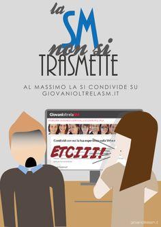 """""""La SM non si trasmette"""": sfatiamo alcuni luoghi comuni!   Leggi il post: http://www.giovanioltrelasm.it/2015/06/la-sm-non-si-trasmette-sfatiamo-alcuni-luoghi-comuni-cartolina-n-3/"""