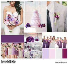#purple #wedding inspiration http://trendybride.net/a-passion-for-purple-wedding-inspiration-board/ Pretty Colors!