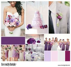 #purple #wedding inspiration http://trendybride.net/a-passion-for-purple-wedding-inspiration-board/ Pretty Colors!